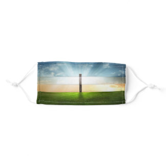 Christian Cross Sunset Sunrise Adult Cloth Face Mask