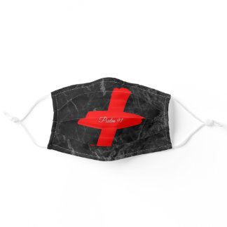Christian Faith Inspirational Cross with Psalm 91 Adult Cloth Face Mask