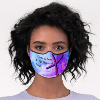 Christian POWER IN THE NAME OF JESUS Premium Face Mask