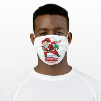 Christmas 2020 Quarantine Dabbing Santa Kids Boys Adult Cloth Face Mask