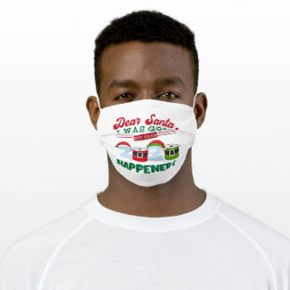 Christmas 2020 Quarantine Santa Kids Boys Girls Adult Cloth Face Mask