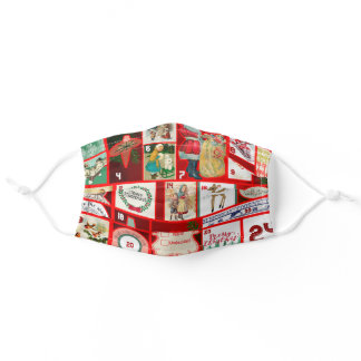 Christmas Advent Calendar Holiday Winter Graphic Adult Cloth Face Mask