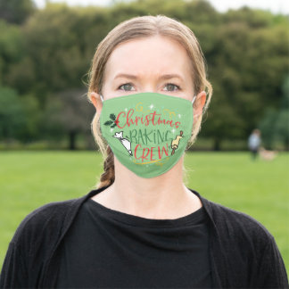 Christmas Baking Crew Adult Cloth Face Mask