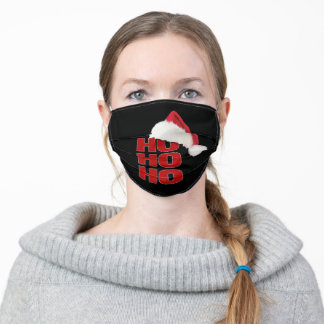 Christmas Black Cloth Face Mask with Filter Slot