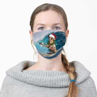 Christmas Chihuahua Surfing Adult Cloth Face Mask