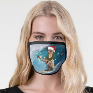 Christmas Chihuahua Surfing Face Mask