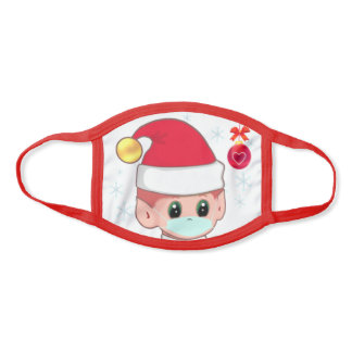 Christmas elf with Face Mask & Snowflakes