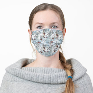 Christmas | Festive Pinecone Pattern Adult Cloth Face Mask