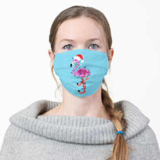 Christmas Flamingo Adult Cloth Face Mask