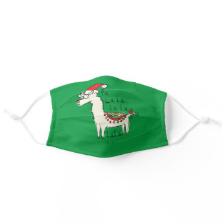 Christmas Funny Llama Cute Animal Holiday Adult Cloth Face Mask