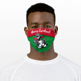 Christmas Havanese Adult Face Mask