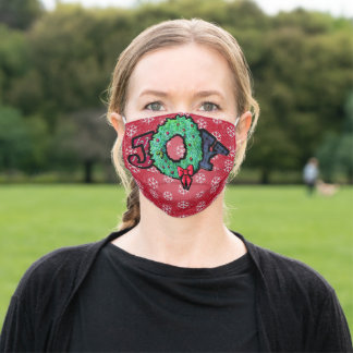 Christmas Joy Cloth Face Mask with Filter Slot