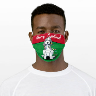 Christmas KiniArt Doodle Adult Face Mask