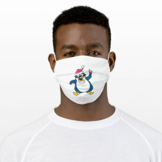 Christmas Penguin Adult Cloth Face Mask