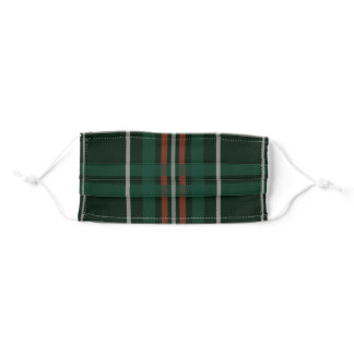 Christmas Plaid Red Green White Pattern Adult Cloth Face Mask