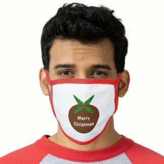 Christmas Pudding Custom Face Mask