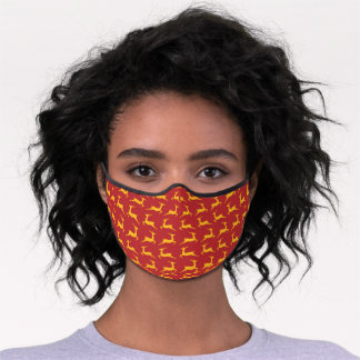 Christmas Red Reindeer Premium Face Mask