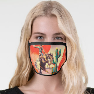 Christmas Rodeo Face Mask