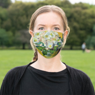 Christmas Roses (by Claude Monet) Adult Cloth Face Mask