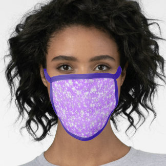 Christmas  Snowflakes Sparkles in  magenta Face Mask