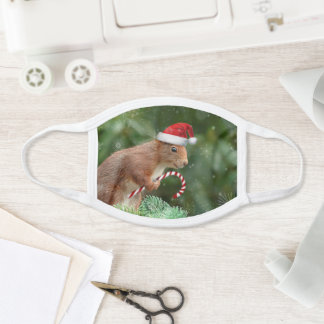 Christmas squirrel face mask