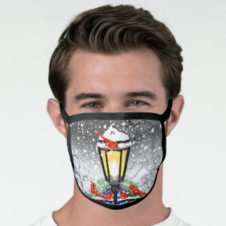 Christmas Streetlamp All-Over Print Face Mask