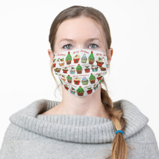 Christmas sweets adult cloth face mask