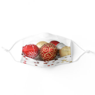Christmas tree ball ornaments adult cloth face mask