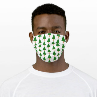 Christmas Tree Design Adult Cloth Face Mask
