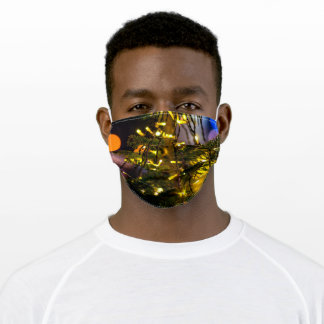 Christmas tree set. Yellow colors Adult Cloth Face Mask