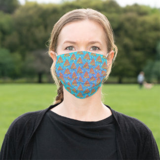Christmas Trees with Sparkles Pattern Adult Cloth Face Mask