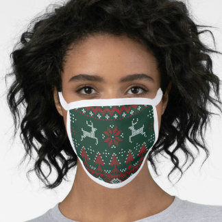 Christmas Ugly Sweater Reindeer Face Mask