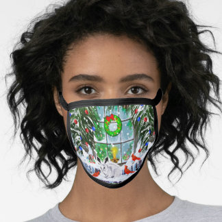 Christmas Window All-Over Print Face Mask