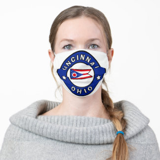 Cincinnati Ohio Adult Cloth Face Mask