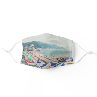 Cinque Terre Italy Vintage Beach Travel Photo Adult Cloth Face Mask