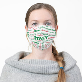 Cities of Italy (flag colors) Adult Cloth Face Mask