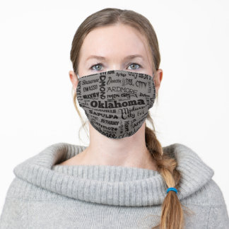 Cities of Oklahoma Adult Cloth Face Mask