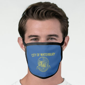 City Flag of Waterbury (Connecticut) Face Mask