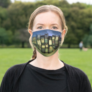 City of Books at Night Adult Cloth Face Mask