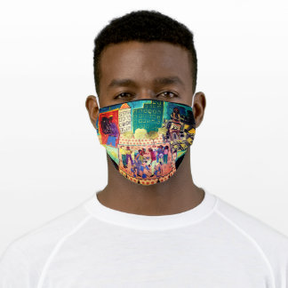 Cityscape/When World's Collide by Meeka Ink Adult Cloth Face Mask