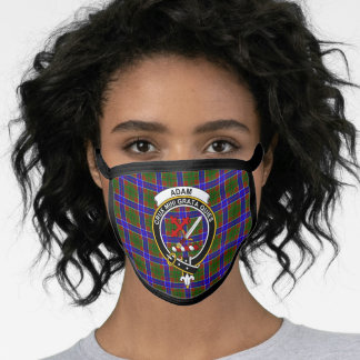 Clan Adam Tartan Plaid Face Mask
