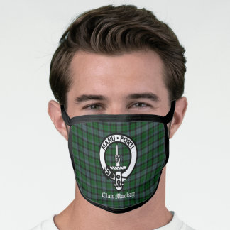 Clan Mackay Crest Badge & Tartan Face Mask