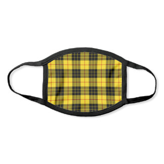 Clan MacLeod Tartan Yellow and Black Plaid Face Mask
