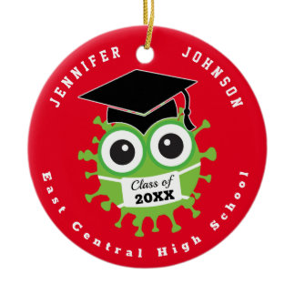 Class of 2020, COVID-19 Graduation Ceramic Ornament
