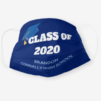 Class of 2020 Custom Graduation Blue Cloth Face Mask