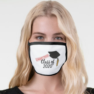Class of 2020, quarantined graduation gold tassel face mask