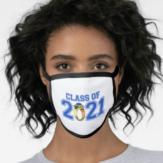 Class Of 2021 Class Ring (Blue) Face Mask