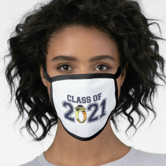 Class Of 2021 Class Ring (Midnight Blue) Face Mask