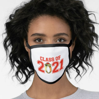 Class Of 2021 Class Ring (Red) Face Mask