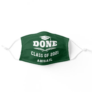 Class of 2021 Done Graduated Custom Adult Cloth Fa Adult Cloth Face Mask